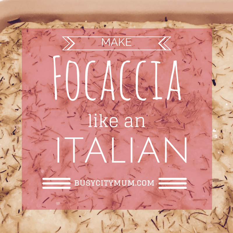 Make Focaccia like an Italian