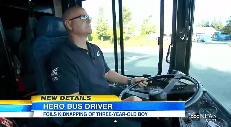Bus Driver Stops Kidnapping In Progress Busy City Mum